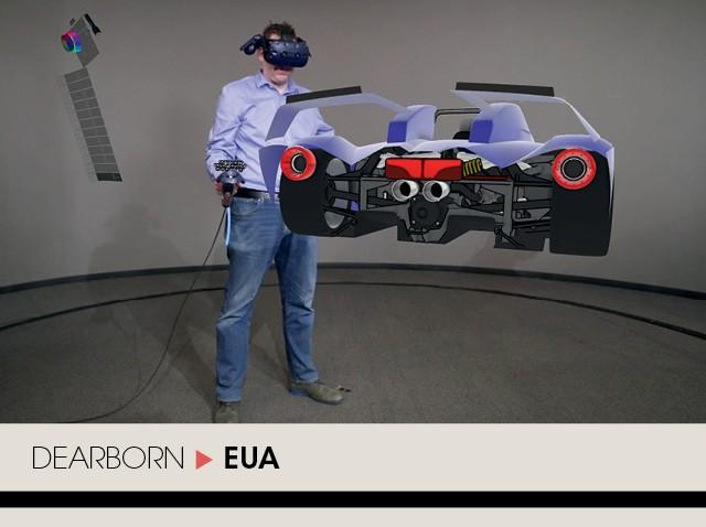 O departamento de design da Ford foi o primeiro da indústria automobilística a aderir a uma ferramenta de realidade virtual em 3D para esboçar seus novos projetos (Foto: Divulgação)