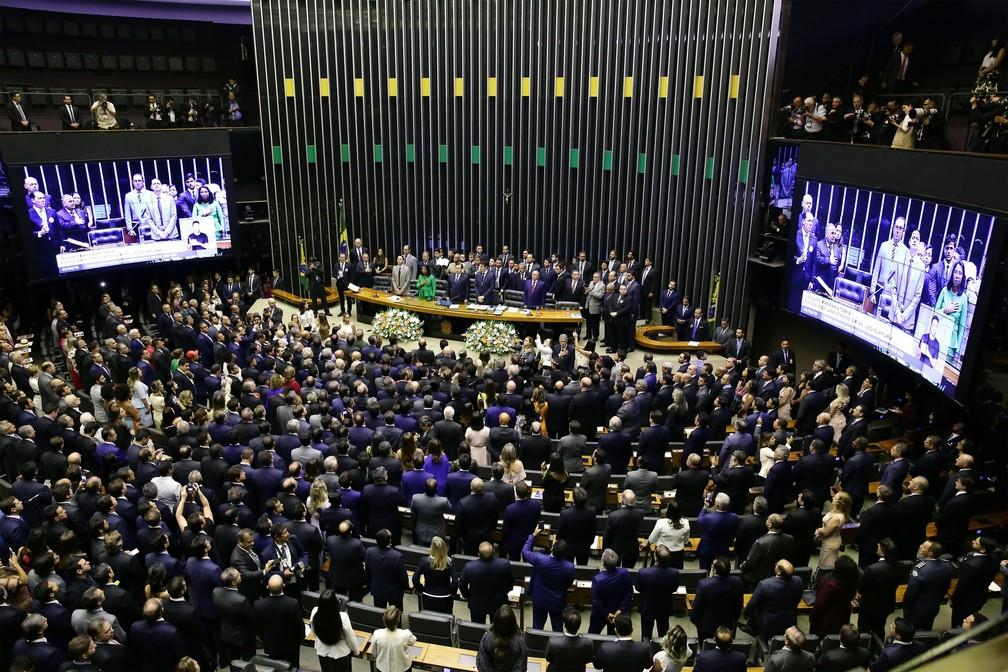 Cerimônia de posse dos Deputados Federais da 56º legislatura  — Foto: Luis Macedo/Câmara dos Deputados