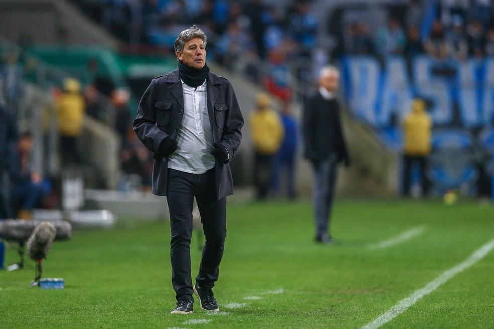 Renato Gaúcho elogia atuação do Grêmio contra o Athletico — Foto: Lucas Uebel/Divulgação Grêmio
