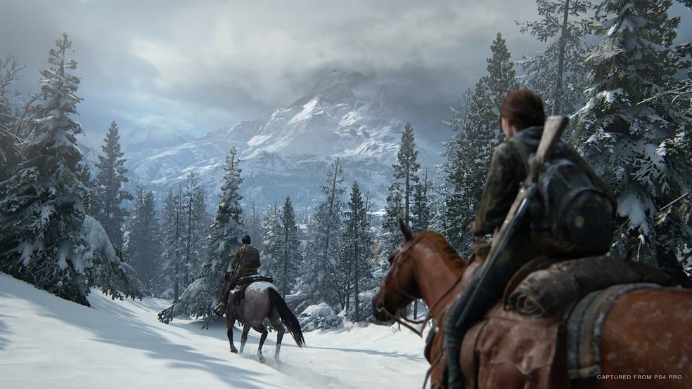 The Last of Us Part 2 traz gráficos com detalhes na neve — Foto: Divulgação/Naughty Dog