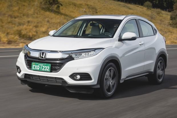 Honda HR-V Touring tem detalhes diferentes do EXL (Foto: Fabio Aro/Autoesporte)