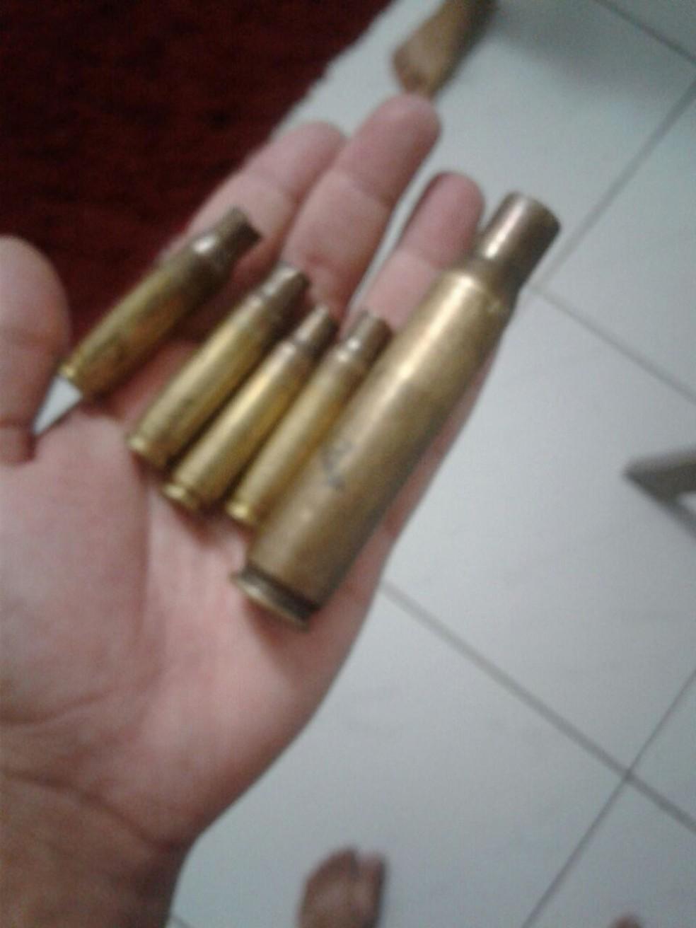 Munições utilizadas pelos bandidos durante ação criminosa (Foto: WhatsApp/Reprodução)