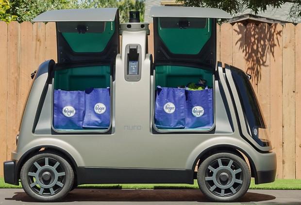 Supermercado nos Estados Unidos inicia serviço de entregas com veículo autônomo (Foto: Reprodução)