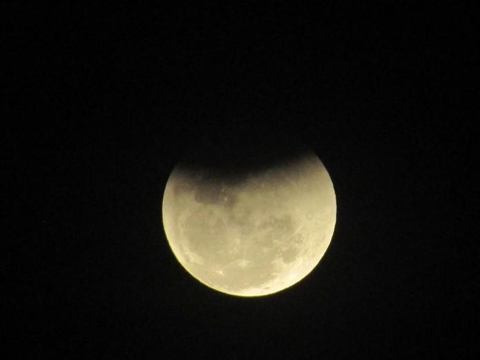 Fenômeno foi observado também no oeste do estado (Foto: Eliane Holler)