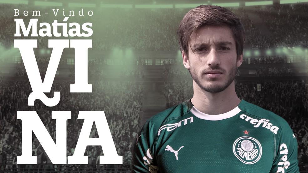 Palmeiras anuncia a contratação do lateral Matías Viña — Foto: Divulgação
