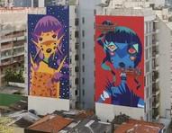 Artistas criam o maior museu brasileiro de grafite a céu aberto