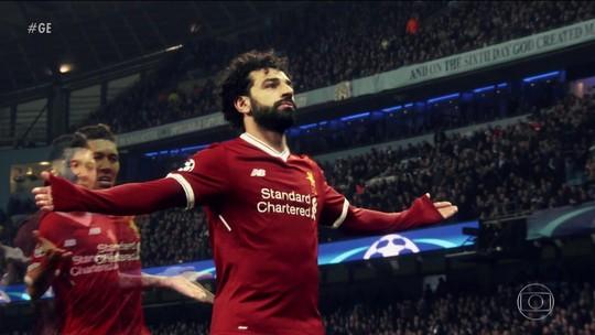 Mohamed Salah é a esperança do Liverpool para chegar na final da Liga dos Campeões