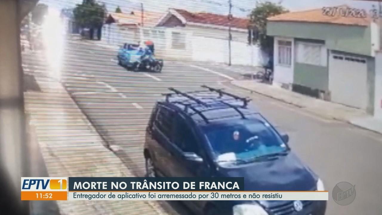 Em 4 dias, Franca têm dois acidentes com entregadores de comida