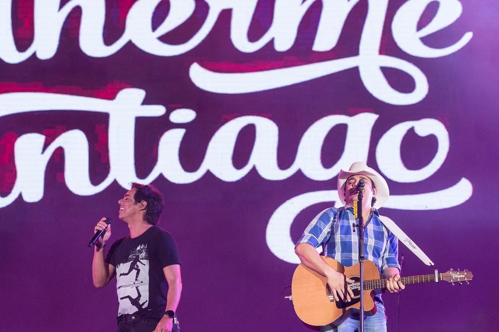 Dupla cantou pela segunda vez em Barretos 2018, dessa vez no Palco Arena (Foto: Ricardo Nasi/G1)