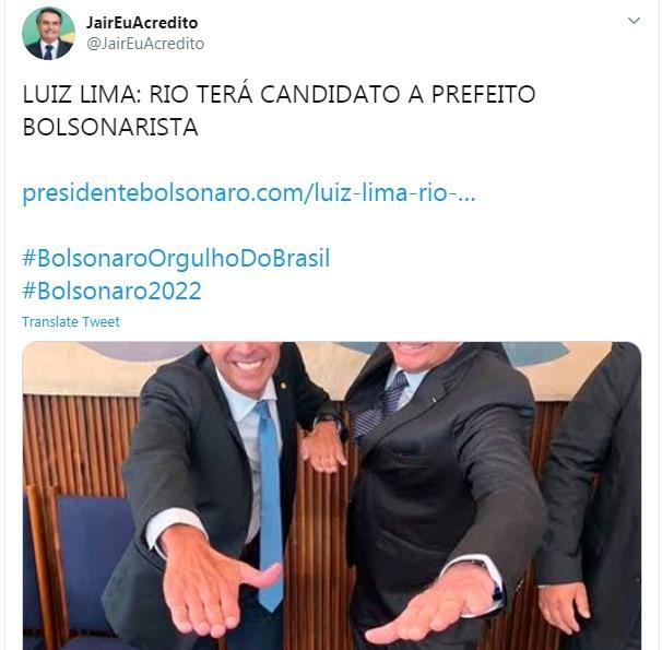 Apoiador de Bolsonaro dá apoio a Luiz Lima
