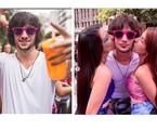 Fiuk aproveitou o carnaval de São Paulo em cima de um trio elétrico e cercado de amigas   Reprodução