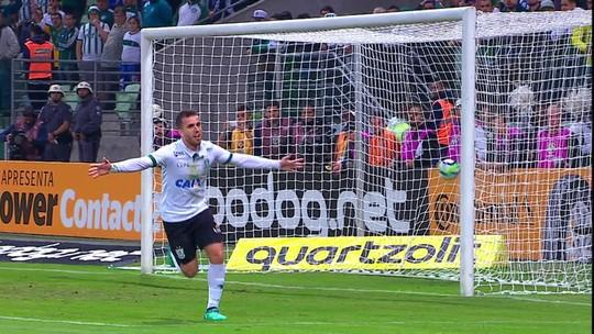 Serginho abre o placar para o América-MG diante do Palmeiras