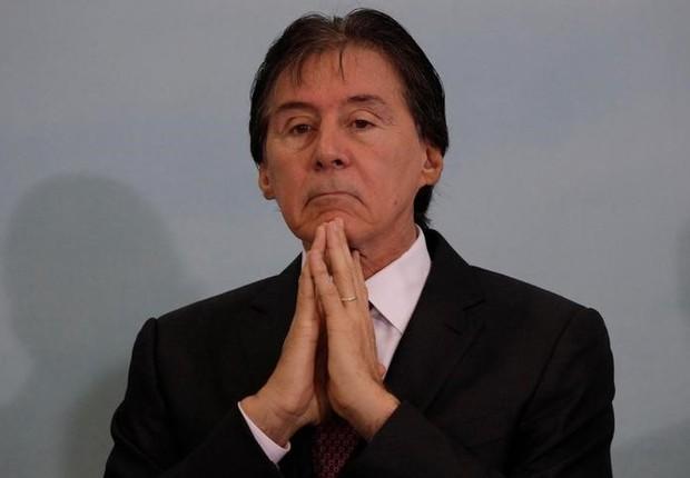 O presidente do Senado, Eunício Oliveira (PMDB-CE), durante evento no Palácio do Planalto (Foto: Ueslei Marcelino/Reuters)