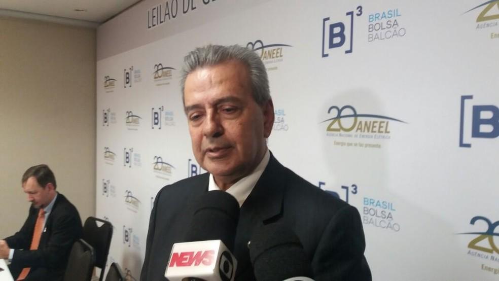 Romeu Rufino, diretor da Aneel, diz que leilão tem segurança jurídica, apesar da possibilidade de a Cemig ainda recorrer (Foto: Taís Laporta/G1)