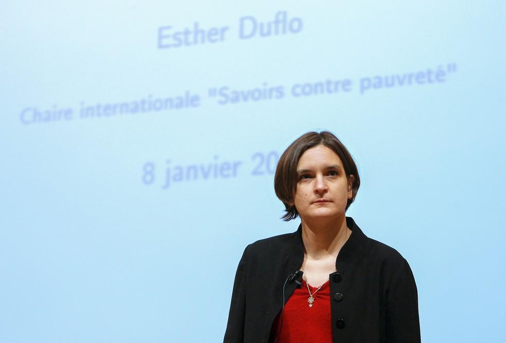 Francesa Esther Duflo foi uma das vencedoras do Nobel de Economia de 2019 (foto de arquivo) — Foto: Patrick Kovarik / AFP