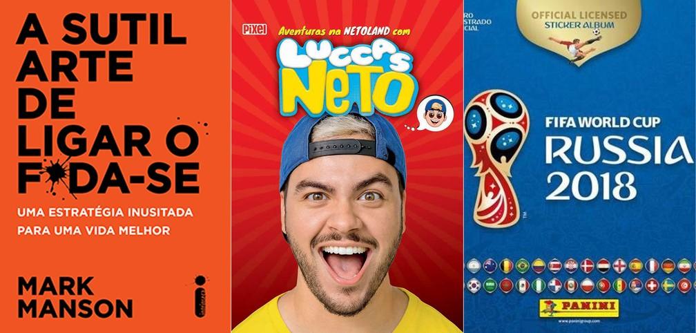 -  Os três livros mais vendidos no Brasil no 1º semestre de 2018  Foto: Divulgação