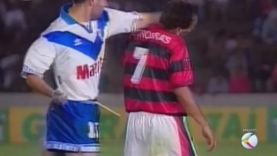 #Tbt recorda briga entre Zandoná e Edmundo pela Supercopa Libertadores em Uberlândia