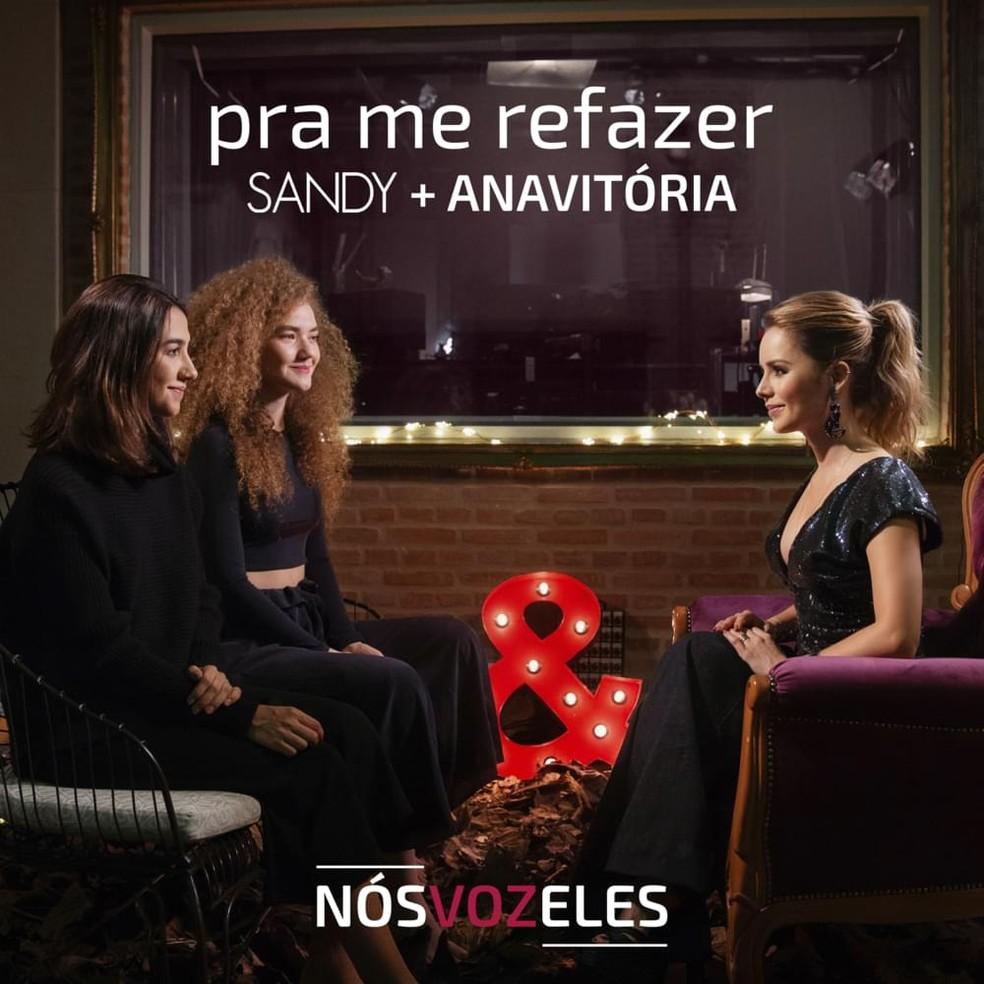 Capa do single 'Pra me refazer', de Sandy com Anavitória — Foto: Divulgação