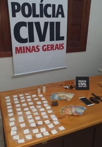 Investigado por tráfico é preso tentando fugir do Norte de MG para SP após Polícia Civil apreender drogas em imóvel dele