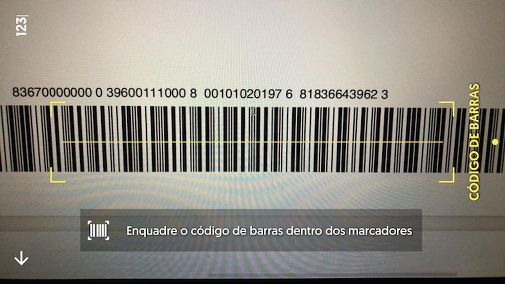 Prefira sempre ler o código de barras a digitar manualmente — Foto: Reprodução/Helito Beggiora