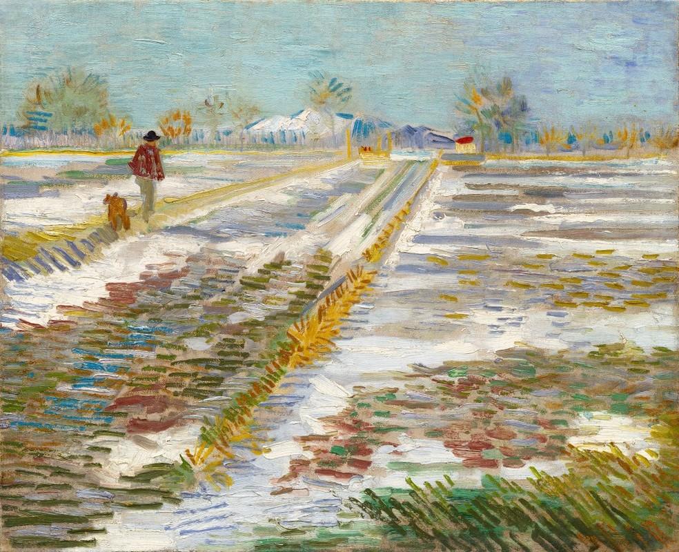 'Landscape with Snow', de Van Gogh, quadro que Trump pediu emprestado ao Museu Guggenheim de Nova York (Foto: Public Domain)