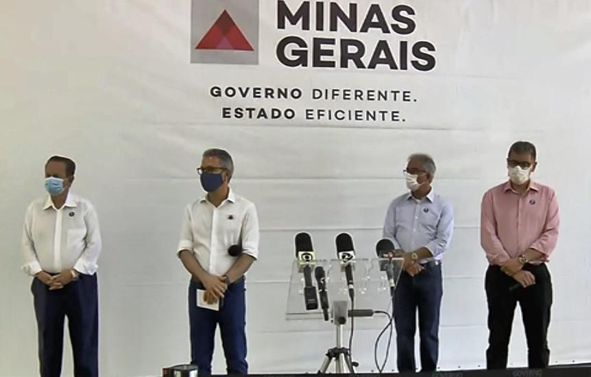 Governador Romeu Zema faz entrega de respiradores para a Santa Casa de Campo Belo, MG