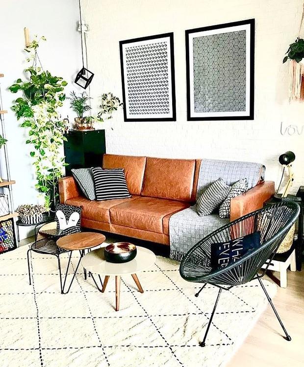 Angelica Morais, que comanda o perfil @ap.1104rj, escolheu um modelo de linhas retas da Ondo e conseguiu um resultado que tem ares de design escandinavo (Foto: Instagram/Reprodução)