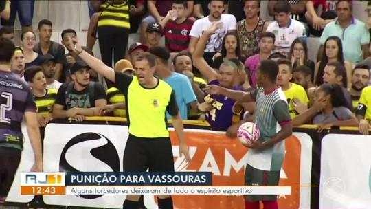 Vassouras é punida por atitudes de parte da torcida em jogo contra Sapucaia