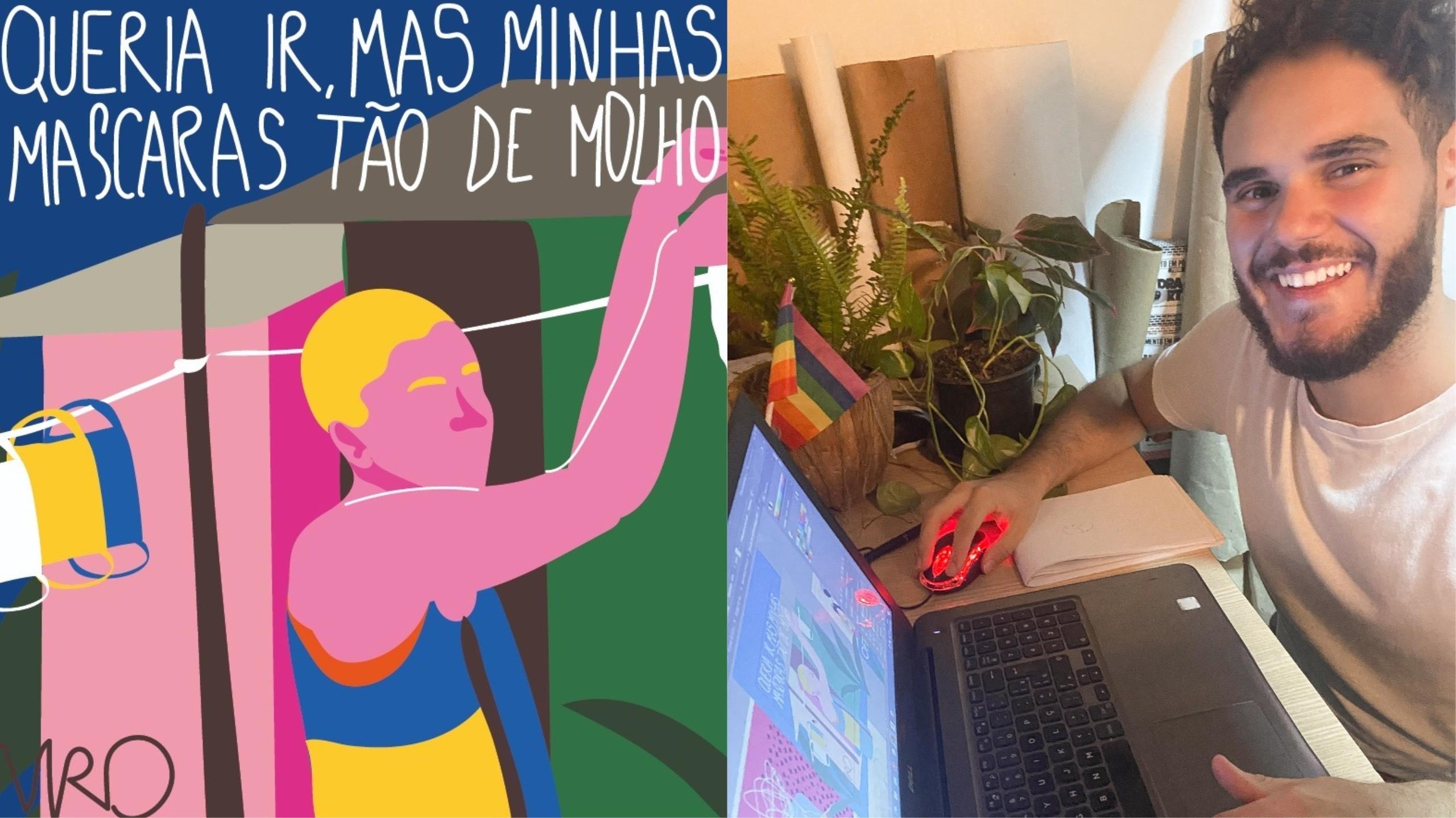 'Gosto de desenhar momentos', diz artista cearense que cria ilustrações sobre a pandemia