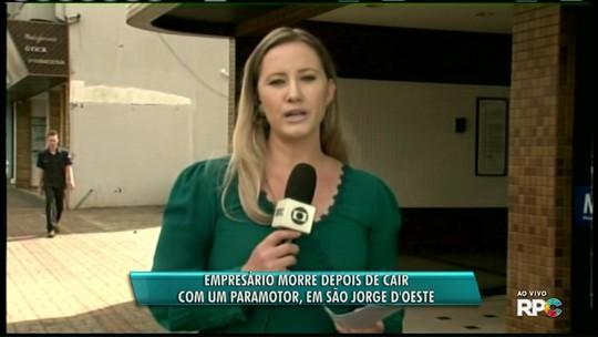 Empresário morre após queda de paramotor no interior do Paraná