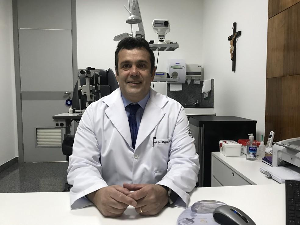 O oftalmologista Magno Antônio Ferreira, professor associado da Universidade Federal de Uberlândia e atual presidente da Sociedade Brasileira de Retina e Vítreo  — Foto: Divulgação