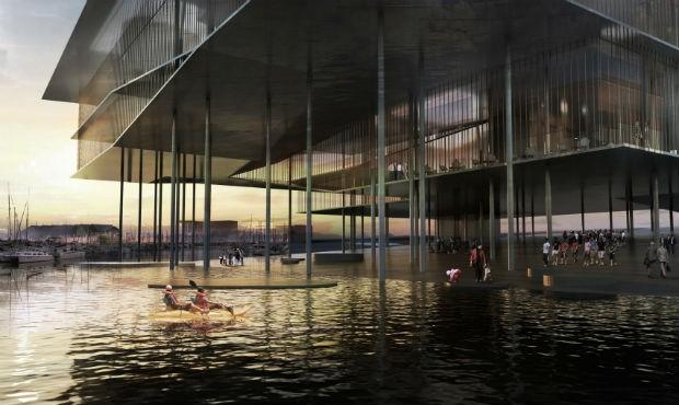 O mar de Wadden, que banha os Países Baixos e é protegido pela UNESCO, vai ganhar um centro de exposições (Foto: Divulgação/ Dorte Mandrup)