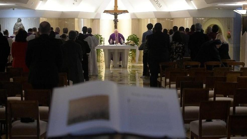 Vaticano transmite missa do Papa Francisco diariamente — Foto: Divulgação/Vatican Media