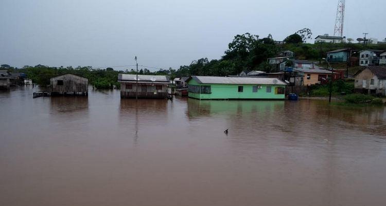 União reconhece situação de emergência por causa da cheia em Cruzeiro do Sul, no Acre