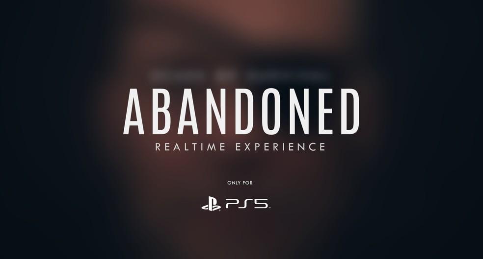 Abandoned é um jogo de terror em primeira pessoa que pode ter alguma ligação com Hideo Kojima — Foto: Divulgação/Blue Box Game Studio