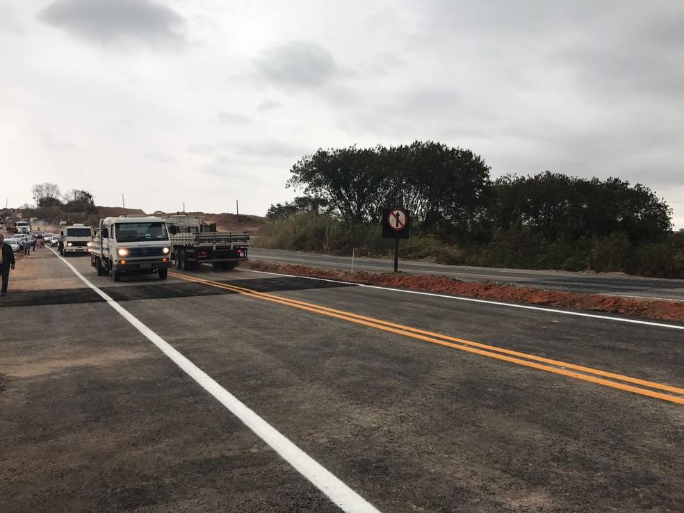Trecho da SP-304 no distrito Artemis em Piracicaba é liberado (Foto: Secretaria Estadual de Logística e Transportes/Divulgação)