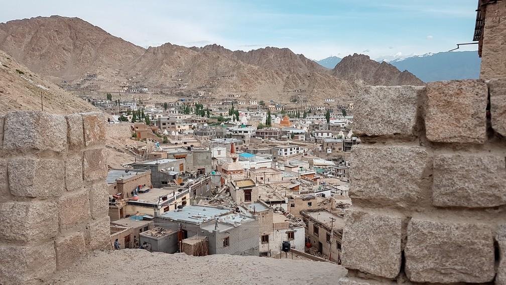 Leh, na Índia, fica a 3.500 metros de altitude (Foto: Rafale Miotto / G1)