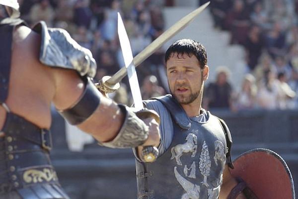 Russel Crowe em cena de Gladiador (2000) (Foto: Reprodução)