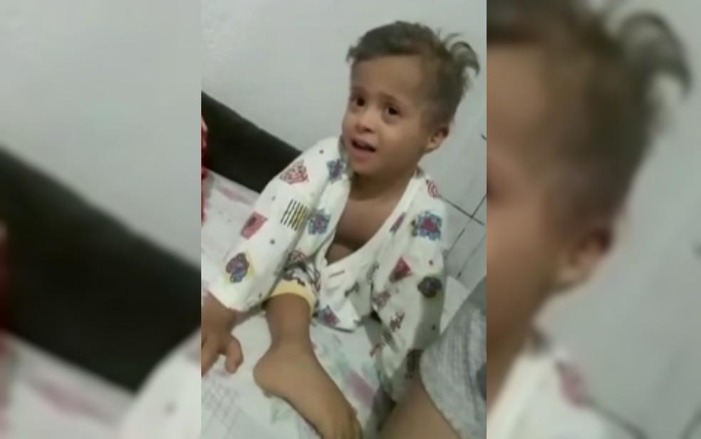 Diogo Soares Carlo Carmo, de 5 anos, morreu no Hospital Materno Infantil, em Goiânia  — Foto: Reprodução/TV Anhanguera