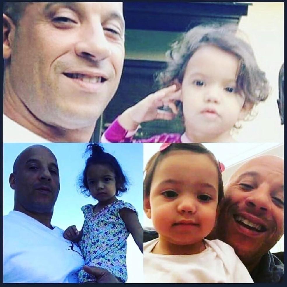 Vin Diesel é paizão — Foto: Reprodução/Instagram