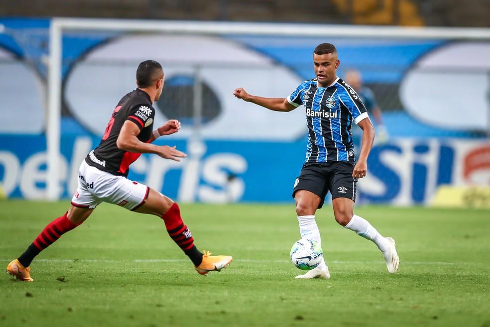 Alisson volta com boa atuação em vitória do Grêmio — Foto: Lucas Uebel/Grêmio
