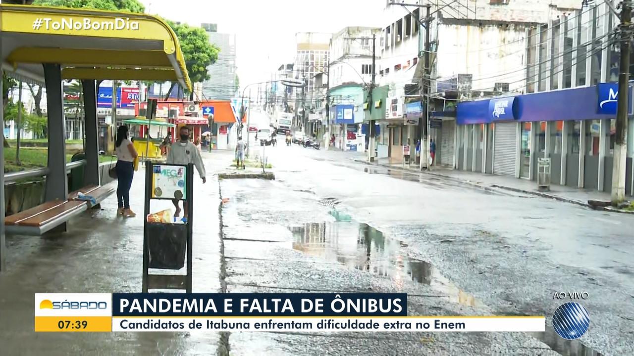 Sem ônibus em Itabuna, estudantes terão dificuldade extra para chegar aos locais do Enem