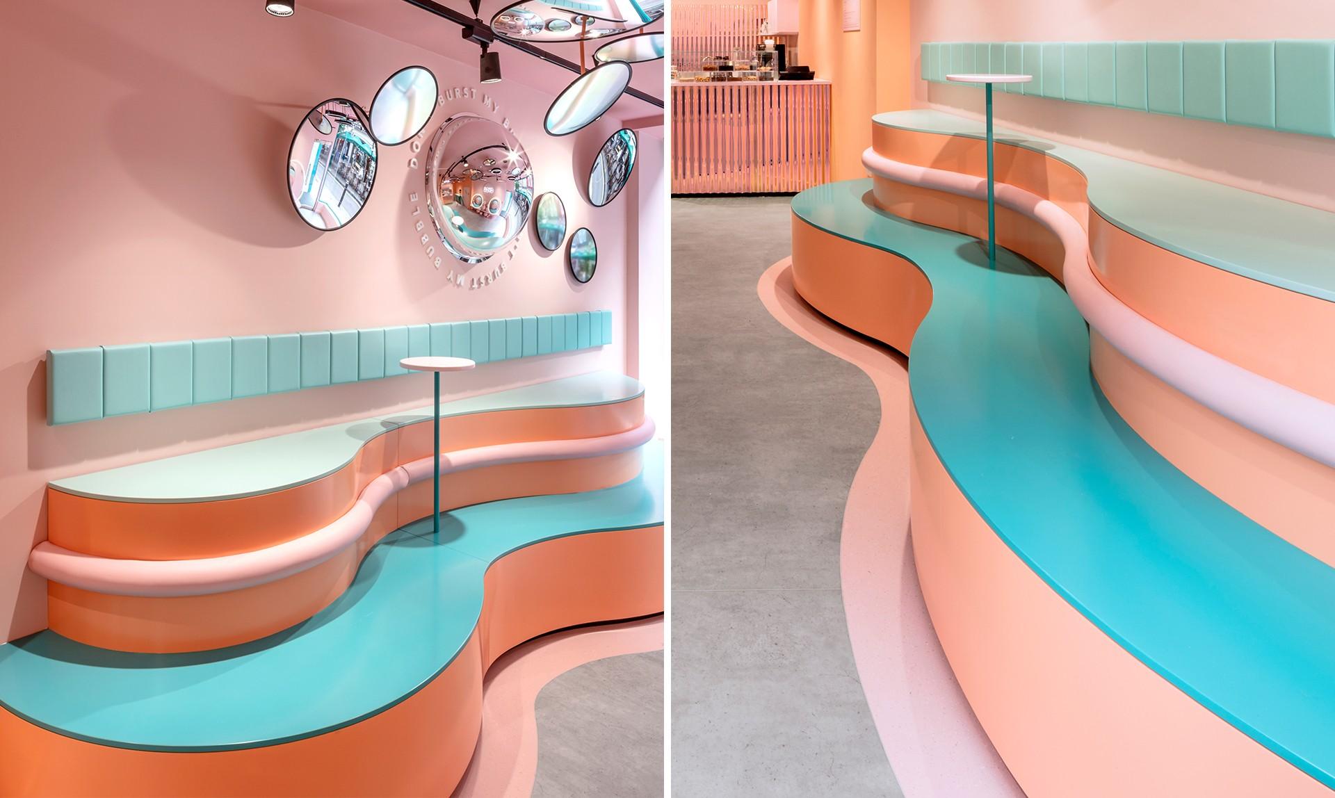 Nesta sorveteria em Londres, todos os cantos são instagramáveis (e rosa!) (Foto: Divulgação)