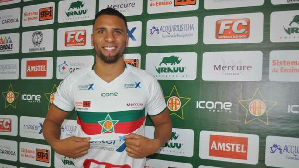 Nilson vai defender a Portuguesa no Campeonato Carioca — Foto: André Oliveira/Portuguesa-RJ
