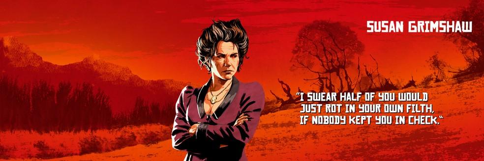 Susan Grimshaw, de Red Dead Redemption 2 — Foto: Divulgação/Rockstar