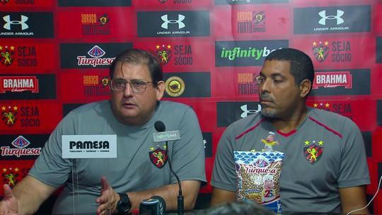 Ao lado de preparador de goleiros do Sport, Guto Ferreira responde a Magrão