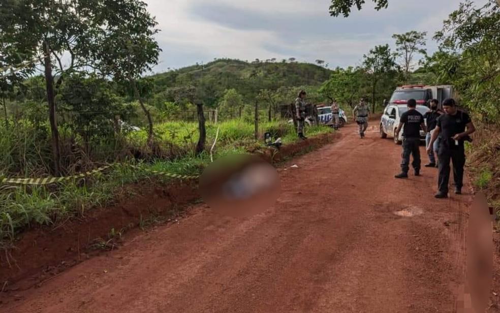 Local onde professor foi encontrado morto, em Formosa — Foto: Divulgação/Polícia Militar