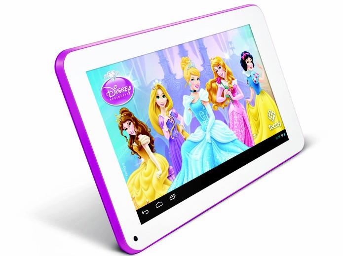 Com capa protetora, aplicativos exclusivos e recurso de controle para os pais, o tablet oferece segurança e diversão às crianças (Foto: Reprodução/ TecToy)