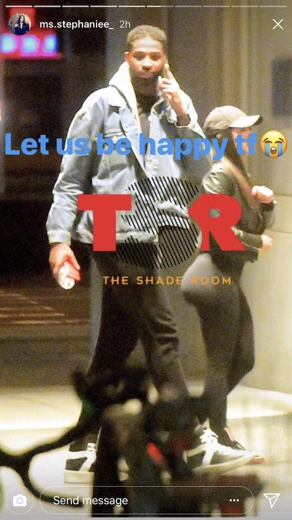 Um flagrante do jogador de basquete Tristan Thompson entrando em um hotel de Nova York com a amante (Foto: Twitter)