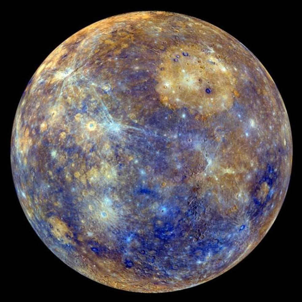 Assim como a Terra, Mercúrio tem um campo magnético, mas bem mais fraco — Foto: Nasa